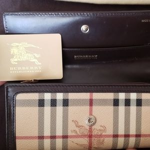 Burberry Bags - Burberry vintage check long wallet - authentic